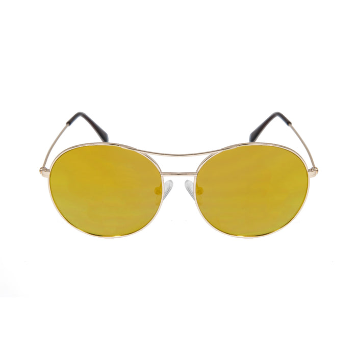 ocean sunglasses KRNglasses model TOURS SKU LE41.1 with silver frame and transparent lens