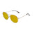 ocean sunglasses KRNglasses model TOURS SKU LE41.2 with gold frame and brown lens