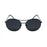 ocean sunglasses KRNglasses model TOURS SKU LE41.4 with black frame and smoke lens