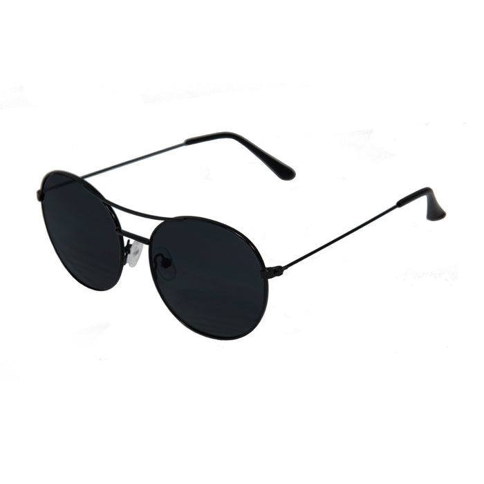 ocean sunglasses KRNglasses model TOURS SKU LE41.5 with silver frame and silver lens
