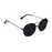 ocean sunglasses KRNglasses model TOURS SKU LE41.6 with silver frame and blue lens