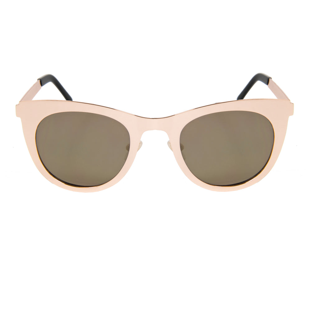 ocean sunglasses KRNglasses model NIORT SKU LE42.1 with gold frame and gold revo lens
