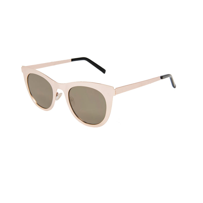 ocean sunglasses KRNglasses model NIORT SKU LE42.2 with black frame and smoke lens