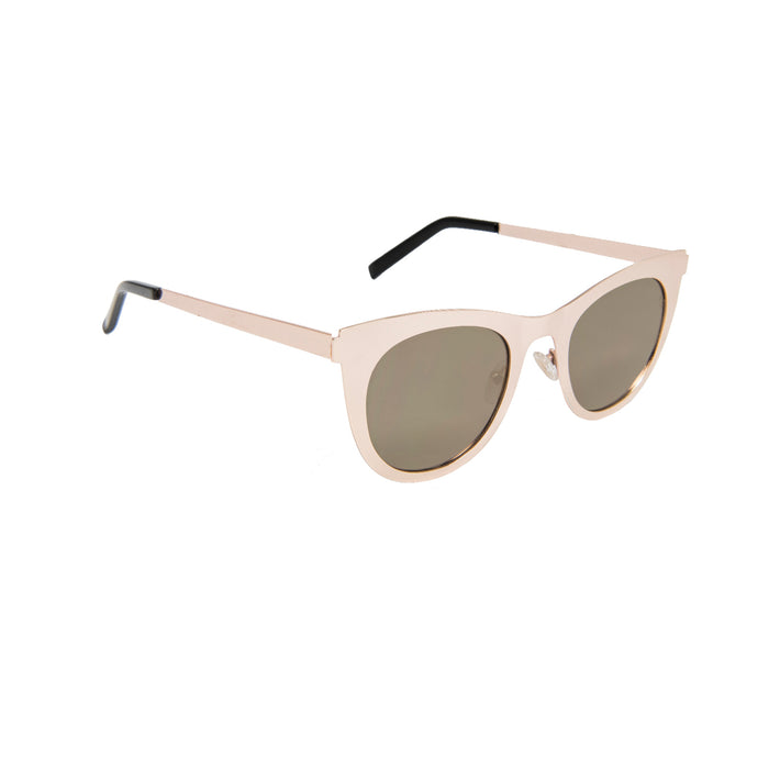 ocean sunglasses KRNglasses model NIORT SKU LE42.3 with silver frame and silver lens