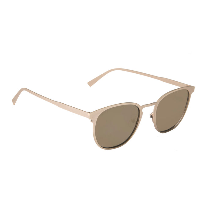 ocean sunglasses KRNglasses model RENNES SKU LE43.3 with silver frame and silver lens