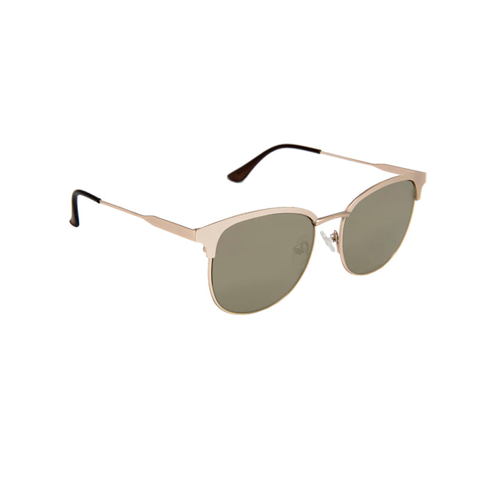 ocean sunglasses KRNglasses model DEAUVILLE SKU LE44.3 with silver frame and silver lens