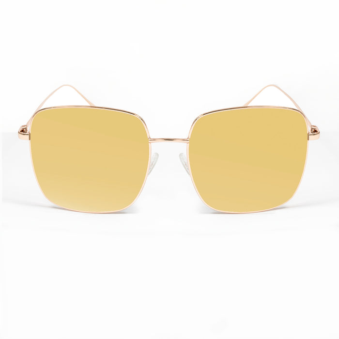 ocean sunglasses KRNglasses model ANGERS SKU LE45.1 with gold frame and gold revo lens