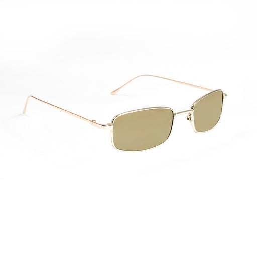 ocean sunglasses KRNglasses model AGDA SKU LE46.2 with silver frame and silver revo lens