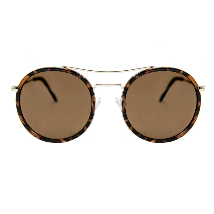 ocean sunglasses KRNglasses model BREST SKU LE48.1 with brown frame and brown lens
