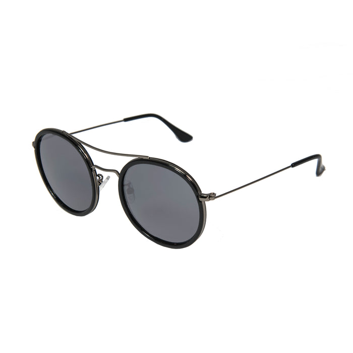 ocean sunglasses KRNglasses model BREST SKU LE48.7 with red frame and smoke lens
