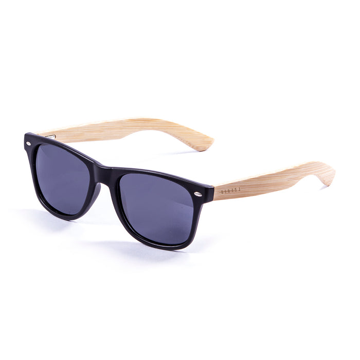 ocean sunglasses KRNglasses model BIARRITZ SKU LE50000.2 with black frame and gray lens