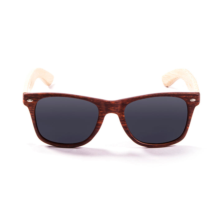 ocean sunglasses KRNglasses model BIARRITZ SKU LE50001.3 with light brown frame and dark blue revo lens