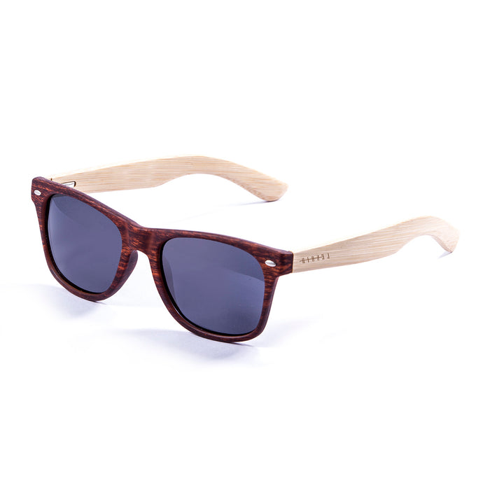 ocean sunglasses KRNglasses model BIARRITZ SKU LE50010.2 with gold brown frame and green revo lens