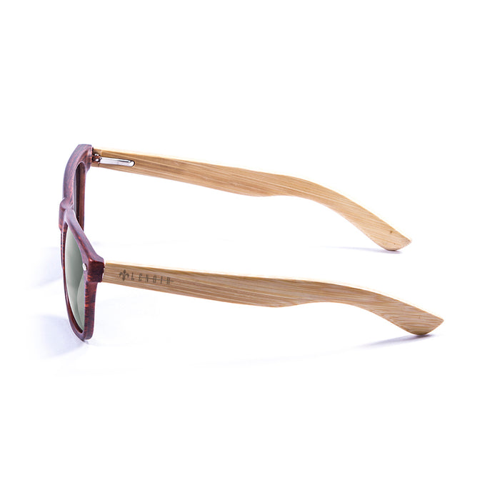 ocean sunglasses KRNglasses model BIARRITZ SKU LE50010.3 with olive brown frame and brown lens