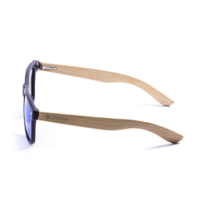 ocean sunglasses KRNglasses model BIARRITZ SKU LE50013.4 with brown opal frame and blue revo lens