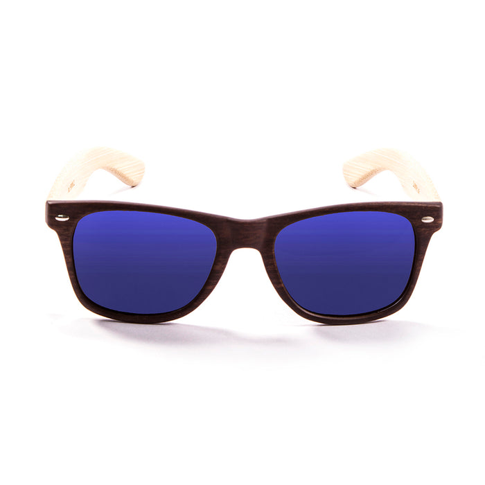 ocean sunglasses KRNglasses model BIARRITZ SKU LE50012.5 with transparent frame and red revo lens