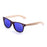 ocean sunglasses KRNglasses model BIARRITZ SKU LE50002.2 with brown frame and green revo lens