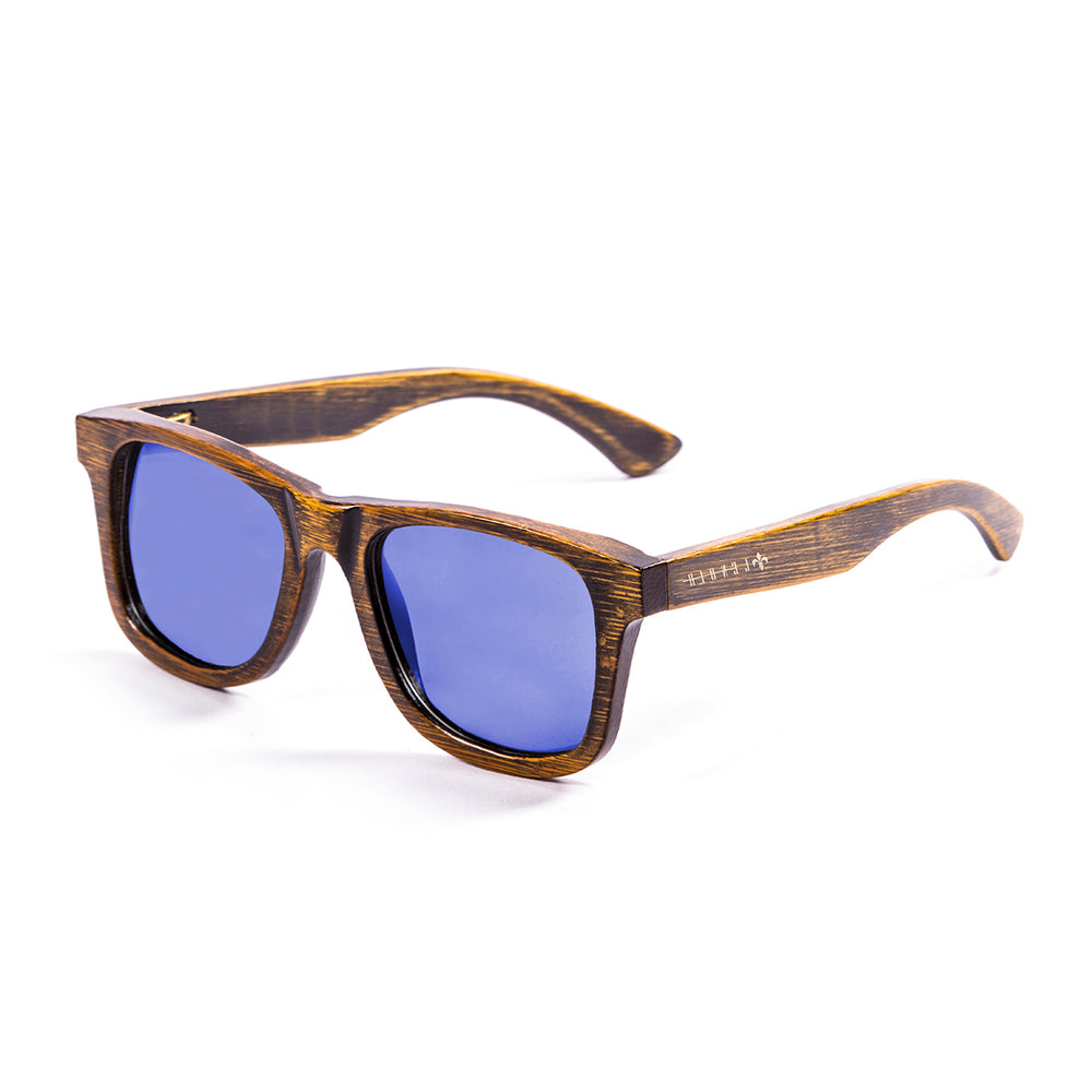 ocean sunglasses KRNglasses model OLD SKU LE53002.0 with brown frame and blue revo lens