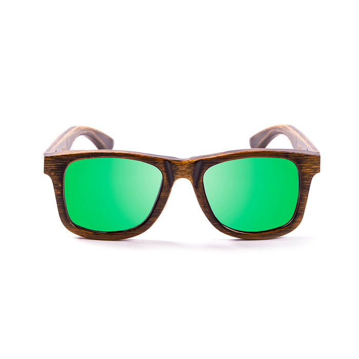ocean sunglasses KRNglasses model OLD SKU LE53002.1 with black frame and green revo lens