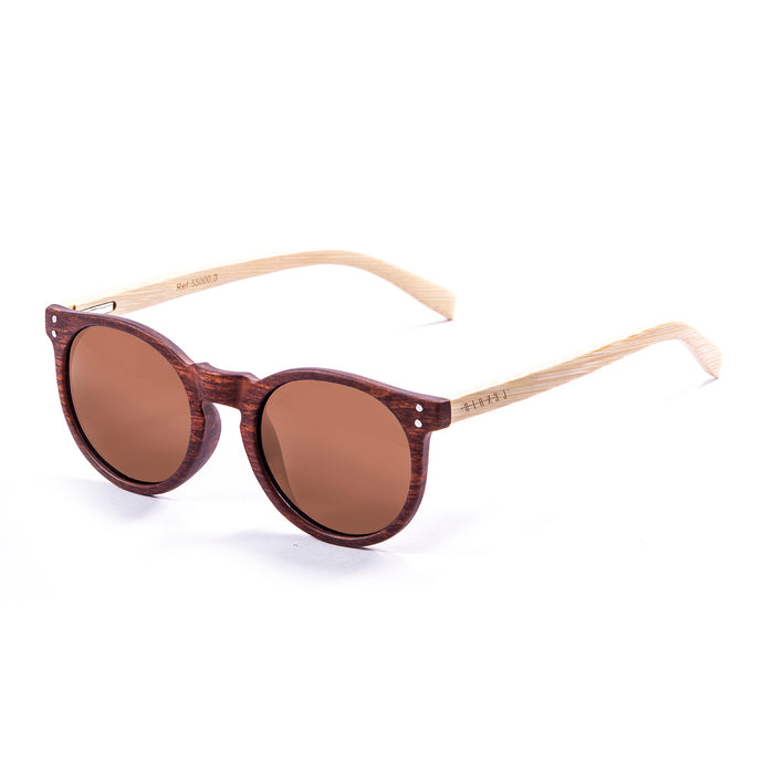 ocean sunglasses KRNglasses model lenoirNE SKU LE55000.2 with brown frame and brown lens