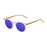 ocean sunglasses KRNglasses model lenoirNE SKU LE55011.4 with brown sugar frame and blue revo lens