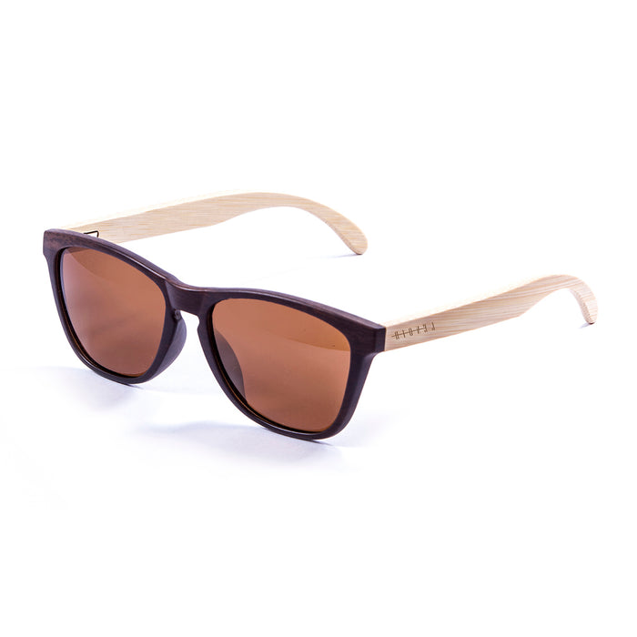 ocean sunglasses KRNglasses model CAVALAIRE SKU LE57000.3 with brown frame and gray lens