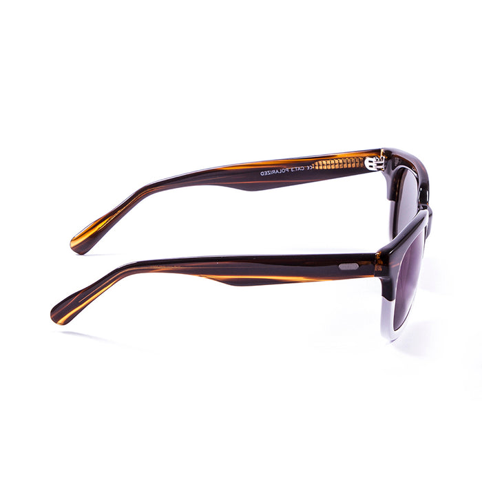 ocean sunglasses KRNglasses model NICE SKU LE61000.3 with brown frame and gray lens