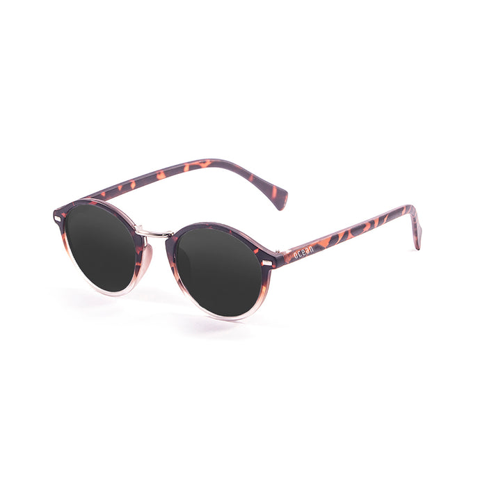 ocean sunglasses KRNglasses model LILLE SKU 10309.1 with demy brown frame and revo pink lens