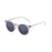 ocean sunglasses KRNglasses model LIZARD SKU 72001.6 with demy brown & white frame and revo blue lens