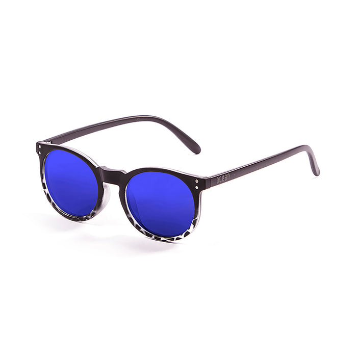 ocean sunglasses KRNglasses model LIZARD SKU 72001.1 with frosted blue frame and revo blue lens