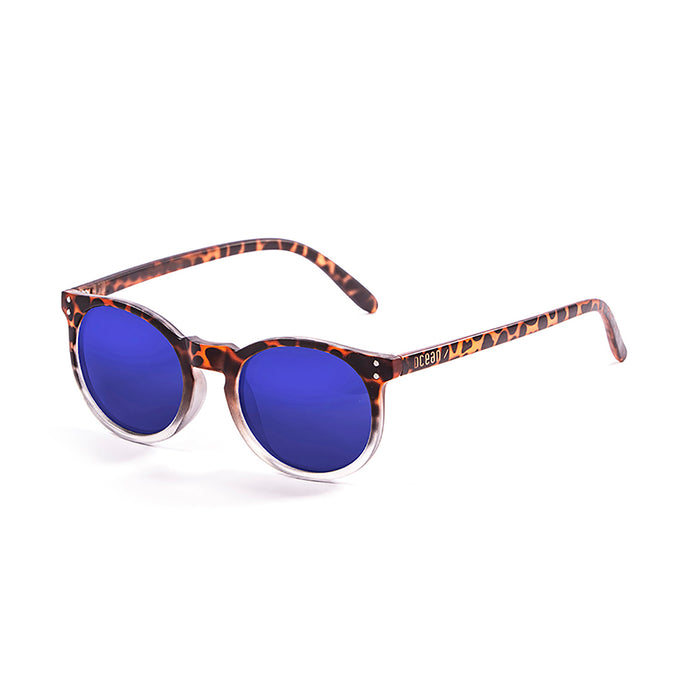 ocean sunglasses KRNglasses model LIZARD SKU 72001.0 with frosted white frame and revo blue lens