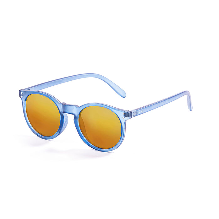 ocean sunglasses KRNglasses model LIZARD SKU 72000.1 with frosted blue frame and smoke lens