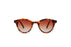 KYPERS sunglasses model LOLA LO003 with clear havana frame and gradient brown lens