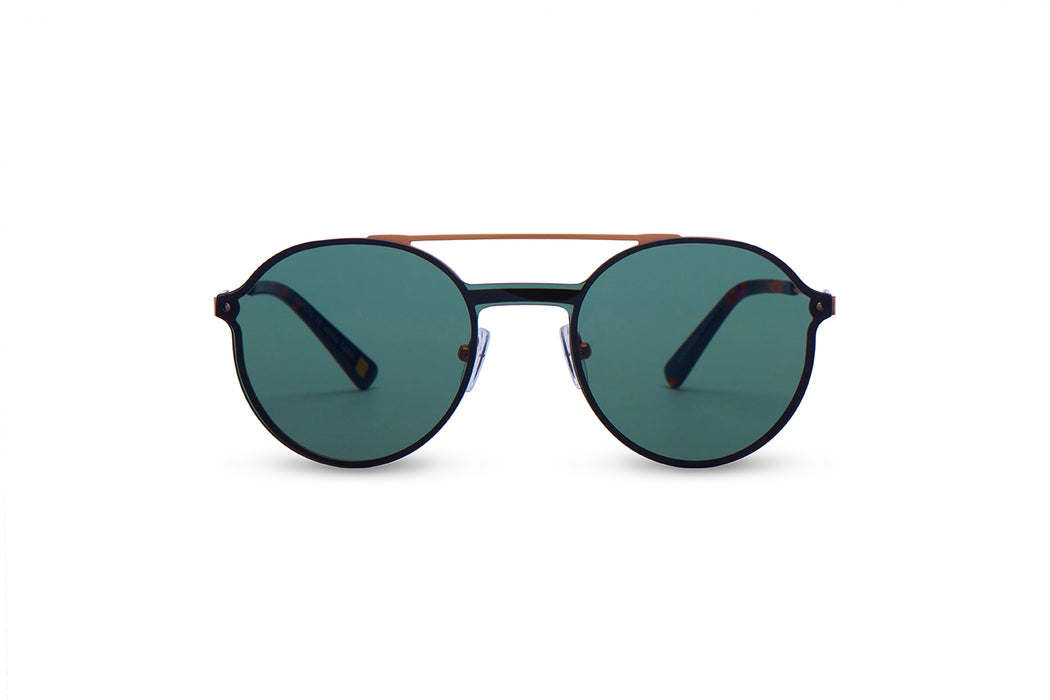 KYPERS sunglasses model LOURENZO LR001 with gun frame and grey mirror lens
