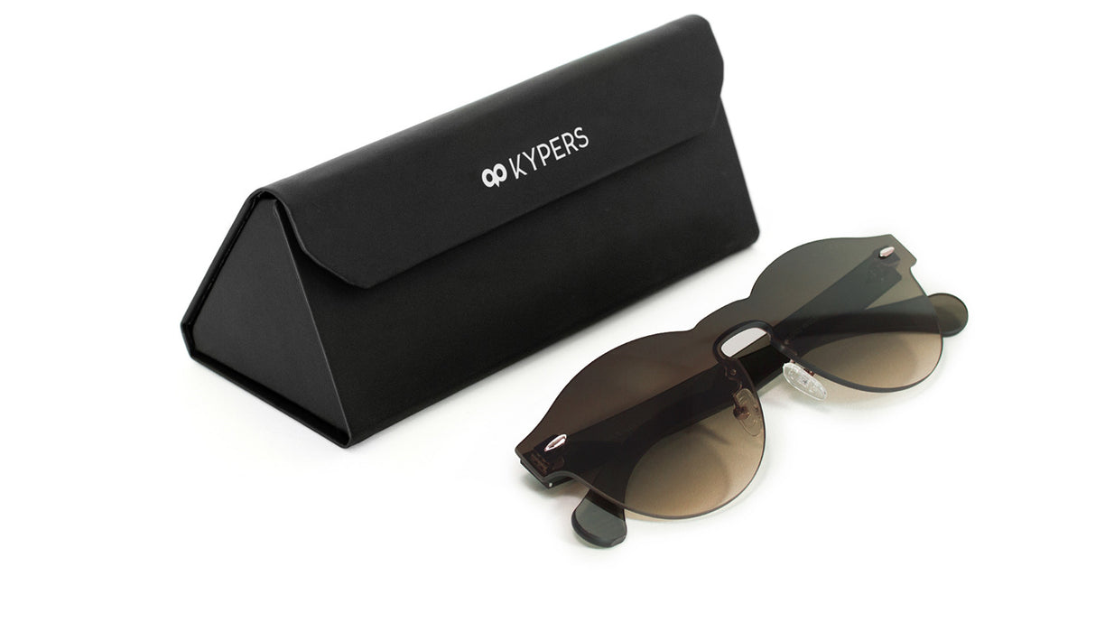 KYPERS sunglasses model LUA LU002 with black frame and gradient brown and blue lens