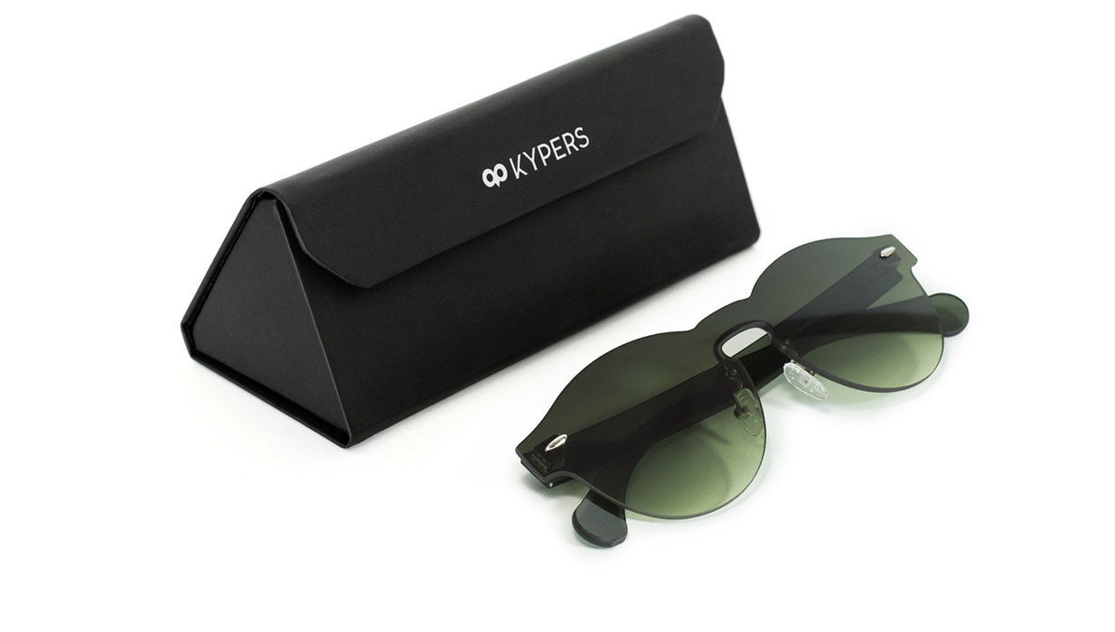 KYPERS sunglasses model LUA LU007 with black frame and pink mirror lens