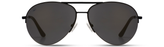 ocean sunglasses KRNglasses model MAXY SKU MXY001.S with black frame and grey degrade lens