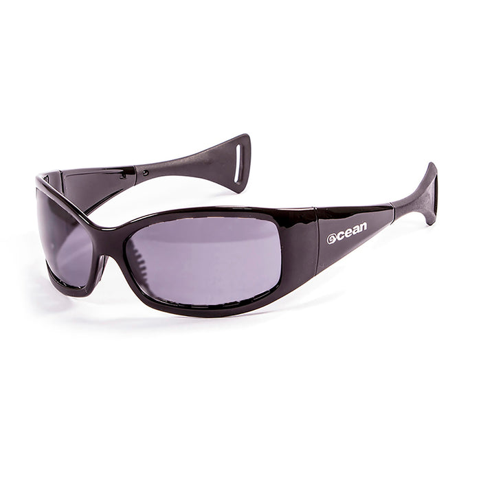 Ocean sunglasses model mentaway 1111.1 with matte black frame and smoke lens polarized eyewear for water sports