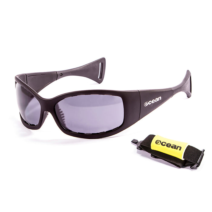 Ocean sunglasses model mentaway 1111.2 with demy brown frame and smoke lens polarized eyewear for water sports
