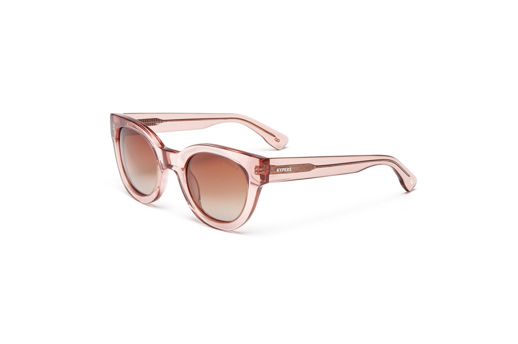 KYPERS sunglasses model PENELOPE PN008 with matt glass pink frame and gold & pink revo lens