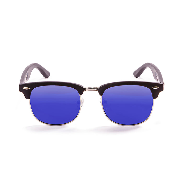 ocean sunglasses KRNglasses model REMEMBER SKU 56011.1 with matte black frame and revo blue lens