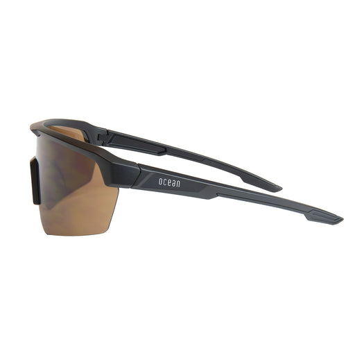 OCEAN ROUTE Polarized Sport Performance Sunglasses Frame Color Matte Black Lens Color Smoke 95000.2 KRNglasses.com