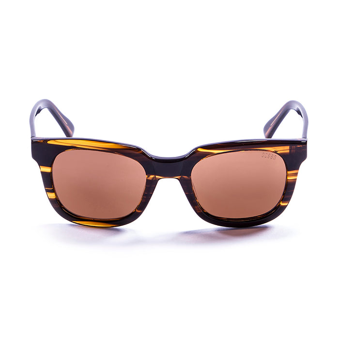 ocean sunglasses KRNglasses model SAN SKU 61000.94 with brown stained frame and brown lens