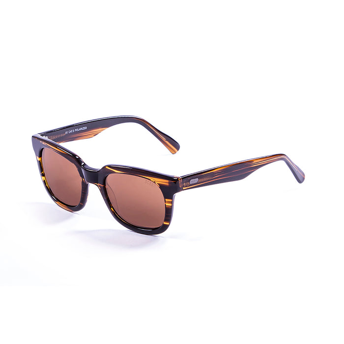 ocean sunglasses KRNglasses model SAN SKU 61000.93 with demy black & white frame and smoke lens