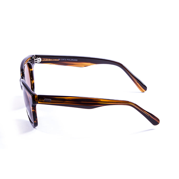 ocean sunglasses KRNglasses model SAN SKU 61000.92 with matte black up & shiny black down frame and smoke lens