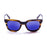ocean sunglasses KRNglasses model SAN SKU 61000.9 with shiny black frame and smoke lens