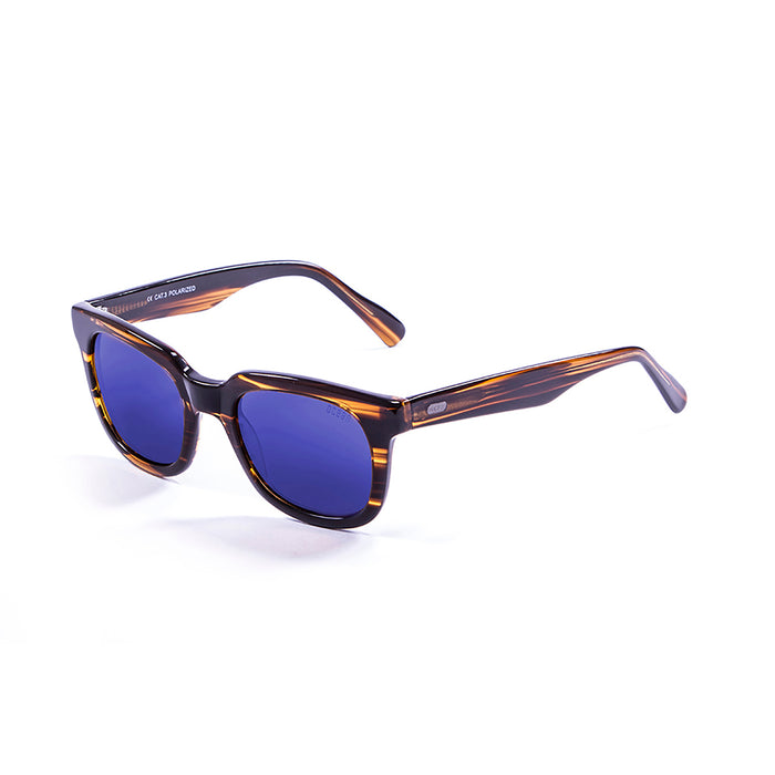 ocean sunglasses KRNglasses model SAN SKU 61000.8 with matte black frame and smoke lens