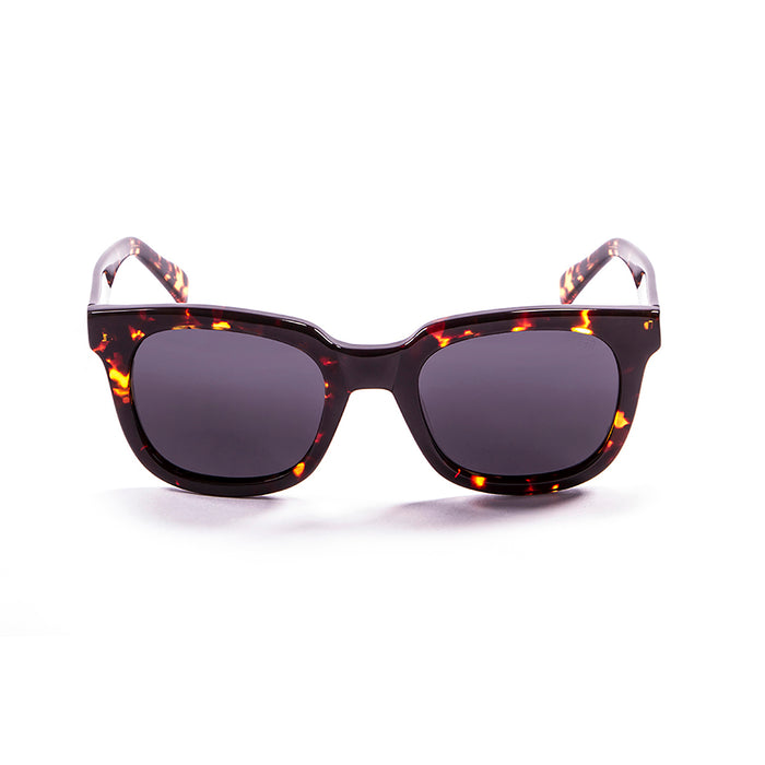ocean sunglasses KRNglasses model SAN SKU 61000.6 with brown light & transparent white frame and brown lens