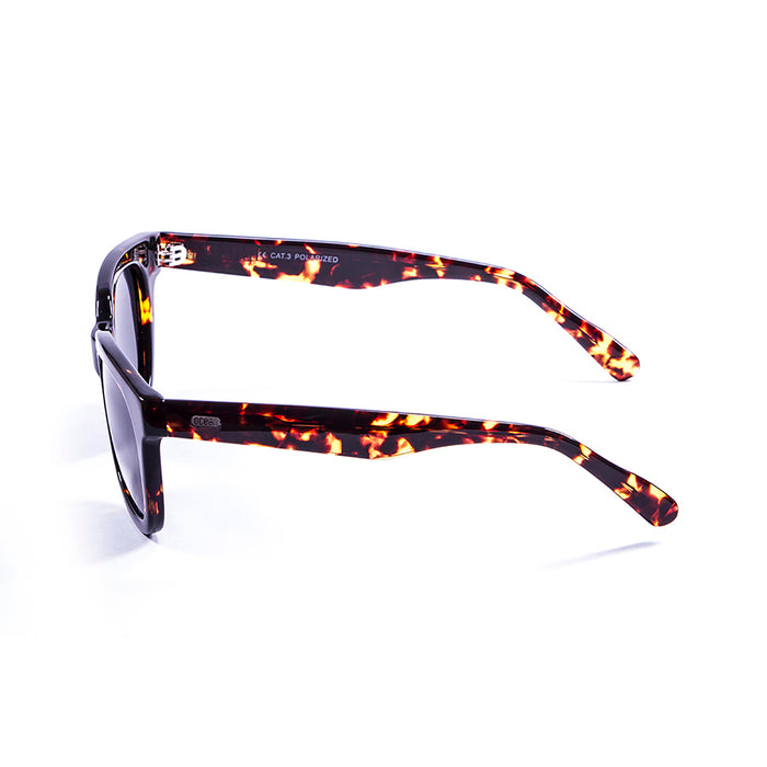 ocean sunglasses KRNglasses model SAN SKU 61000.4 with brown frame and revo blue lens