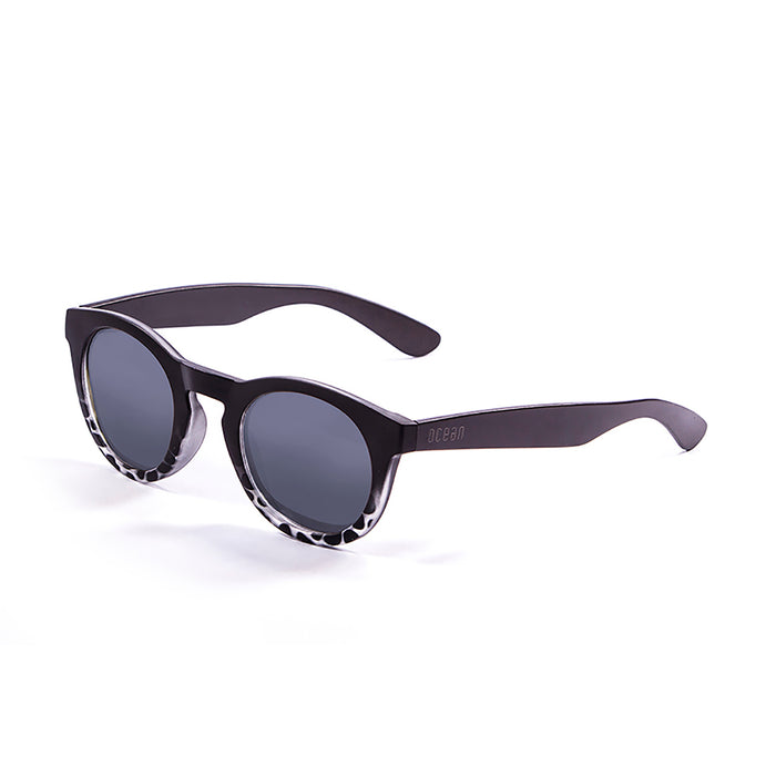 ocean sunglasses KRNglasses model SAN SKU 20001.4 with shiny coffee frame and revo blue lens